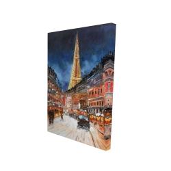 Canvas 24 x 36 - 3D - Illuminated paris