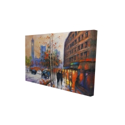 Canvas 24 x 36 - 3D - City by fall