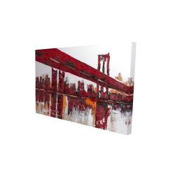 Canvas 24 x 36 - 3D - Red bridge