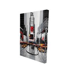 Canvas 24 x 36 - 3D - New york city busy street