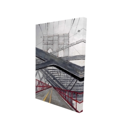 Canvas 24 x 36 - 3D - Under the brooklyn bridge