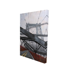 Canvas 24 x 36 - 3D - Bridge architecture