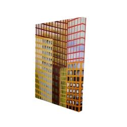 Canvas 24 x 36 - 3D - Skyscrapers