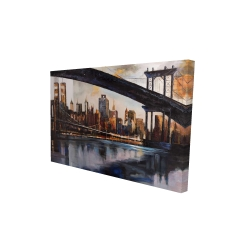 Canvas 24 x 36 - 3D - Sunset over new york