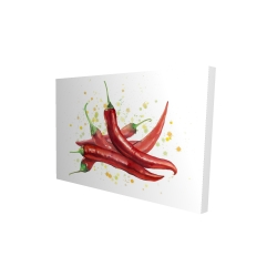 Canvas 24 x 36 - 3D - Red hot peppers