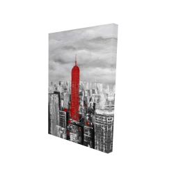 Canvas 24 x 36 - 3D - Empire state building of new york