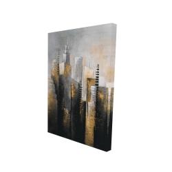Canvas 24 x 36 - 3D - Abstract gold skyscraper