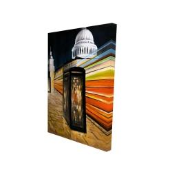 Canvas 24 x 36 - 3D - Fast london bus