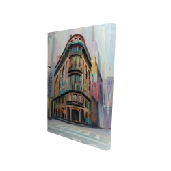 Canvas 24 x 36 - 3D - Building architecture in new-york