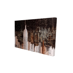 Canvas 24 x 36 - 3D - The empire city of newyork