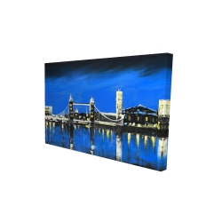 Canvas 24 x 36 - 3D - Blue skyline of london