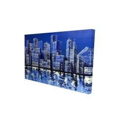 Canvas 24 x 36 - 3D - Blue skyline
