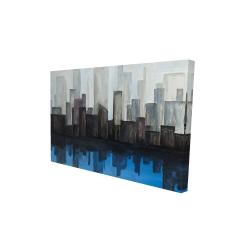 Canvas 24 x 36 - 3D - Blue city