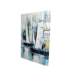 Canvas 24 x 36 - 3D - Industrial style boats