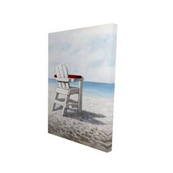 Canvas 24 x 36 - 3D - White beach chair