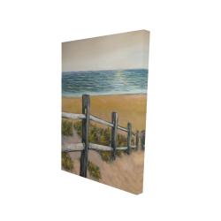 Canvas 24 x 36 - 3D - Quiet seaside