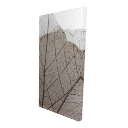 Canvas 24 x 48 - 3D - Translucent dried leaves