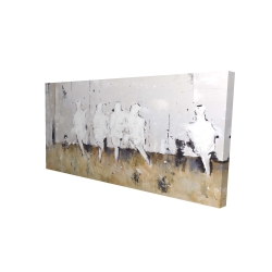 Canvas 24 x 48 - 3D - Eight perched birds