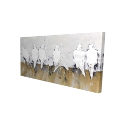 Canvas 24 x 48 - 3D - Abstract perched birds