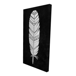Canvas 24 x 48 - 3D - Native american feather