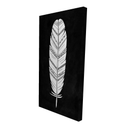 Canvas 24 x 48 - 3D - Feather with patterns