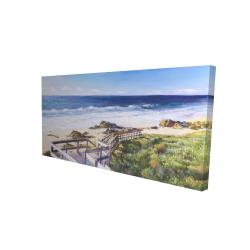 Canvas 24 x 48 - 3D - Walk to the beach