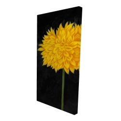 Canvas 24 x 48 - 3D - Yellow chrysanthemum
