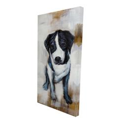 Canvas 24 x 48 - 3D - Sitting dog