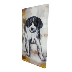 Canvas 24 x 48 - 3D - Curious puppy dog