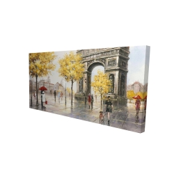 Canvas 24 x 48 - 3D - Arc de triomphe to paris