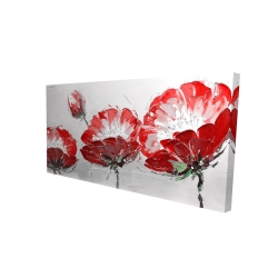 Canvas 24 x 48 - 3D - Wild flowers on gray background
