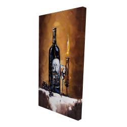 Canvas 24 x 48 - 3D - Candlelit wine