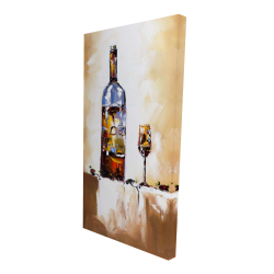 Canvas 24 x 48 - 3D - White wine