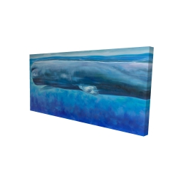 Canvas 24 x 48 - 3D - Sperm whale