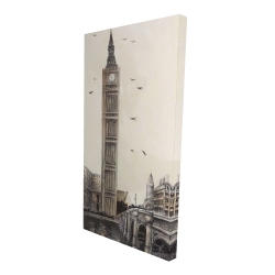 Canvas 24 x 48 - 3D - Big ben in london