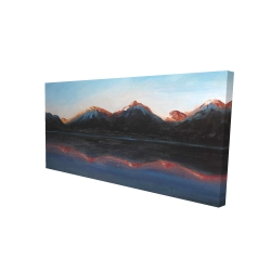 Canvas 24 x 48 - 3D - Mountains landscape