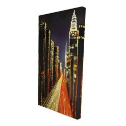 Canvas 24 x 48 - 3D - Lively city