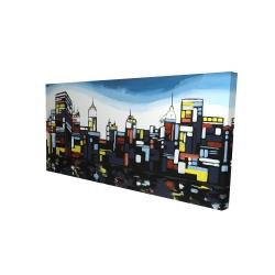 Canvas 24 x 48 - 3D - Colorful city