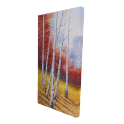 Canvas 24 x 48 - 3D - Fall landscape with birches