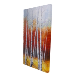 Canvas 24 x 48 - 3D - Fall forest landscape