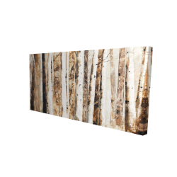 Canvas 24 x 48 - 3D - Trees of an asbtract forest
