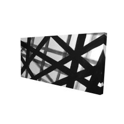 Canvas 24 x 48 - 3D - Abstract bold lines
