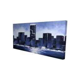 Canvas 24 x 48 - 3D - Marine blue city