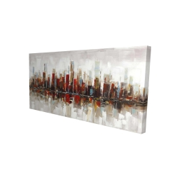 Canvas 24 x 48 - 3D - Abstract colorful skyscrapers