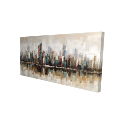 Canvas 24 x 48 - 3D - Abstract buildings with textures