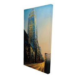 Canvas 24 x 48 - 3D - In the street of empire state building