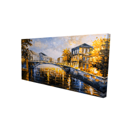 Canvas 24 x 48 - 3D - Bridge by a sunny day