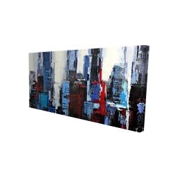 Toile 24 x 48 - 3D - Ville bleue abstraite