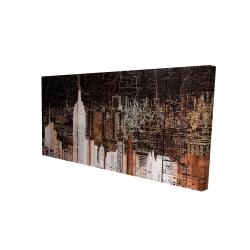 Canvas 24 x 48 - 3D - The empire city of newyork