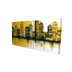 Canvas 24 x 48 - 3D - Yellow abstract skyscraper 1